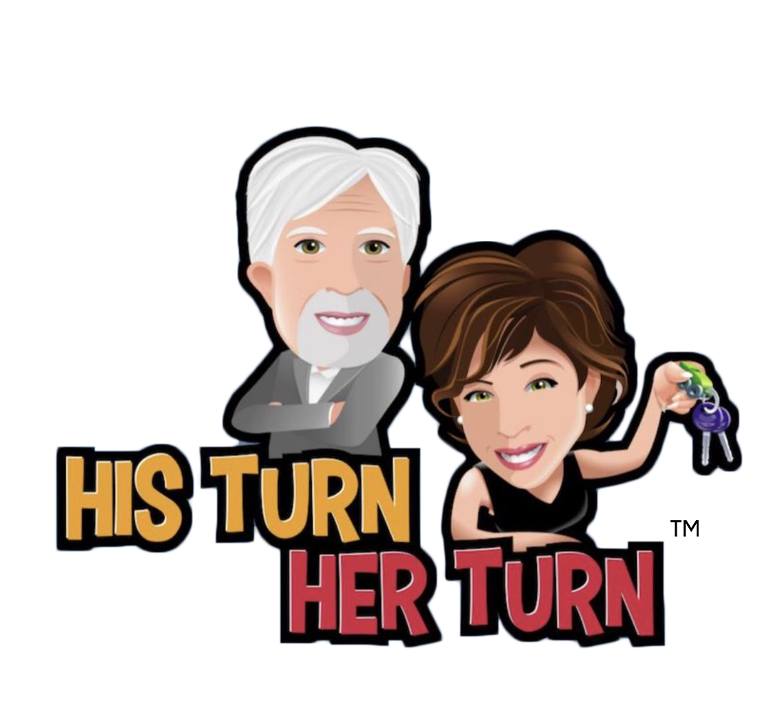 His Turn Her Turn logo with Paul Brian and Lauren Fix