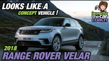 Looks Like a Concept Vehicle! 2018 Range Rover Velar